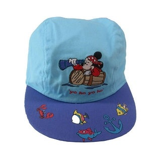 Disney Little Boys Baby Blue Mickey Mouse Yo Ho Yo Ho Baseball Cap