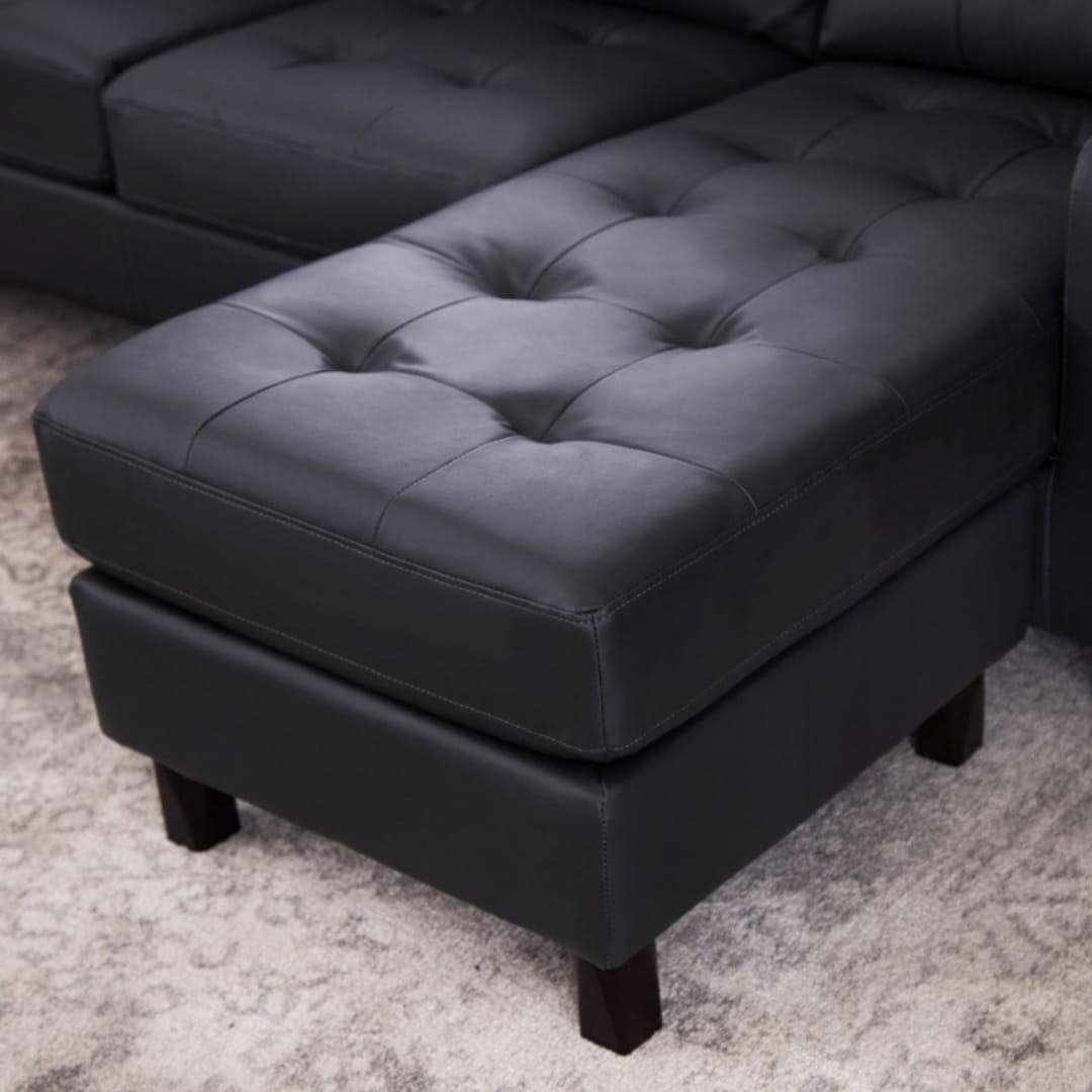 Abbyson Montgomery Reversible Bonded Leather Sectional Ottoman On Sale Overstock 11769151