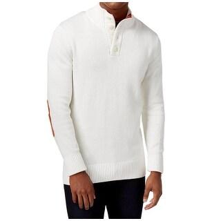 Sean John NEW Cream White Mens Size 2XL Button Mock Neck Sweater