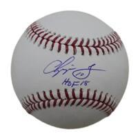 Chipper Jones Autographed Atlanta Braves OML Baseball HOF JSA