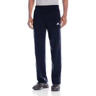 Adidas NEW Navy Blue White Mens Size Large L Running Side-Stripe Pants