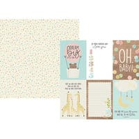 """4""""X6"""" Vertical Elements - Oh Baby! Double-Sided Cardstock 12""""X12"""" (25/Pack)"""