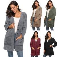 Women Cardigan Coat Oversized Open Front  Pockets Cardigan Jacket