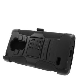 Insten Hard PC/ Silicone Dual Layer Hybrid Case Cover with Stand/ Holster For LG G Stylo/ G Vista 2