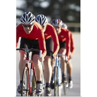 """""""Cyclists in action"""" Poster Print"""