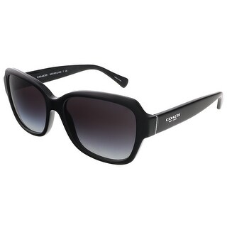 Coach HC8160 500211 Black Square Sunglasses - 56-17-135
