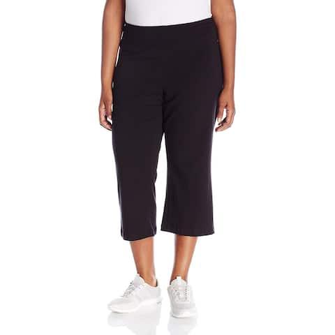 Jockey Women's Slim Capri Flare, Deep Black, 1X, Deep Black, Size 1X