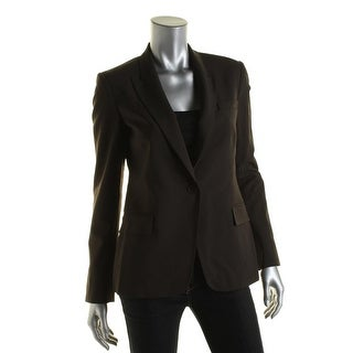 Theory Womens Dief Wool Long Sleeves One-Button Blazer