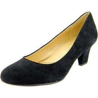 Trotters Penelope Women N/S Round Toe Suede Black Heels