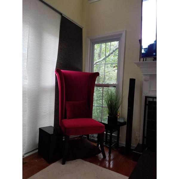 Shop Armen Living Mad Hatter Red Velvet High-back Chair - On Sale - Free Shipping Today - Overstock.com - 7278916  sc 1 st  Overstock.com & Shop Armen Living Mad Hatter Red Velvet High-back Chair - On Sale ...