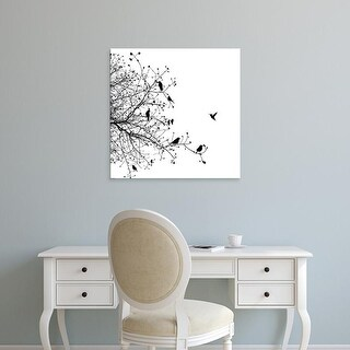 Easy Art Prints GraphINC's 'Bird I' Premium Canvas Art