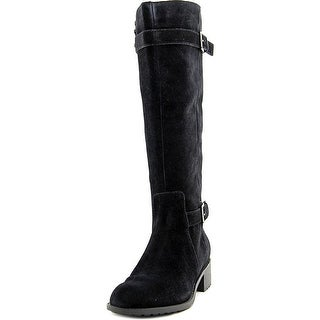 Cole Haan Womens PUNTMAN Suede Round Toe Motorcycle Boots