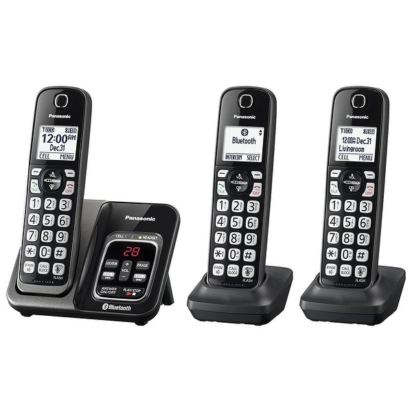 Panasonic KX-TGD563M Link2Cell Bluetooth Cordless Phone with Voice Assist and Answering Machine - 3 Handsets