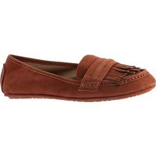 Kenneth Cole Reaction Women's Bare-Ing Loafer Rust Suede