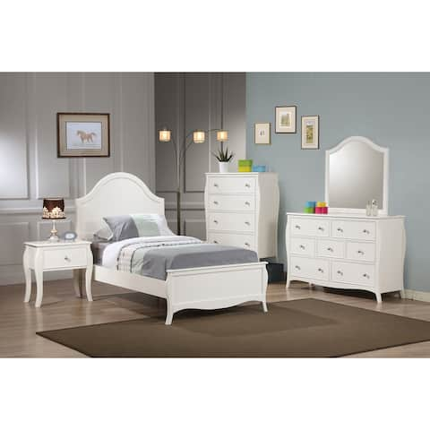 Arlo French Country White 4-piece Bedroom Set