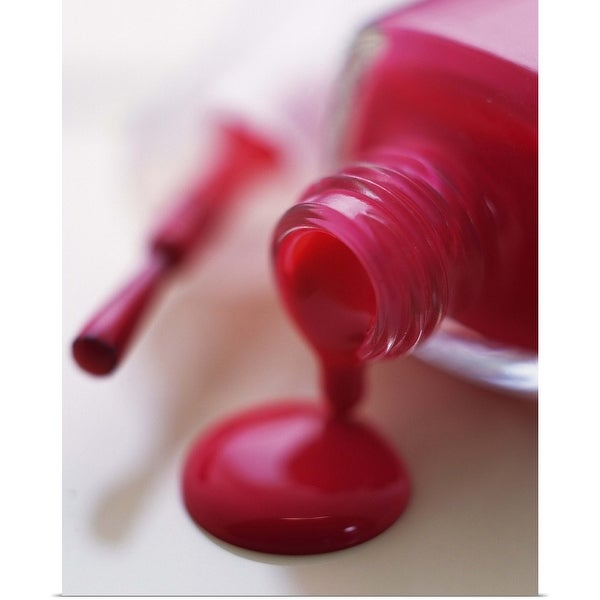 """""""Closed Up Image of Red-Colored Manicure Bottle, Differential Focus"""" Poster Print"""