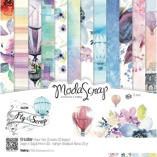 "Elizabeth Craft Modascrap Paper Pack 6""X6"" 12/Pkg-Fly & Scrap"