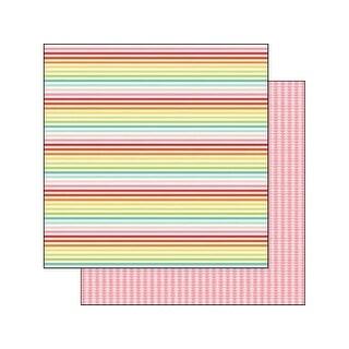 Echo Park Sunny Days Ahead Paper 12x12 Rnbw Stripe