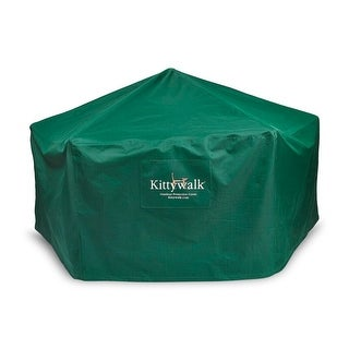 "Kittywalk Outdoor Protective Cover for Kittywalk Gazebo Green 70"" x 70"" 38"""