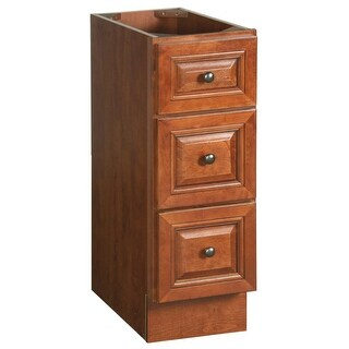 """Design House 539551 12"""" Wood Floor Cabinet with 3 Drawers from the Montclair Collection - Chestnut"""