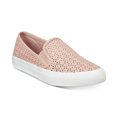 Sperry Womens Seaside Perforated Slip-On Sneakers - 7