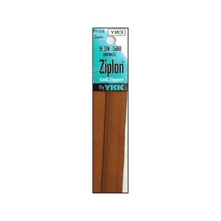 "YKK Ziplon Coil Zipper 9"" Bronze"