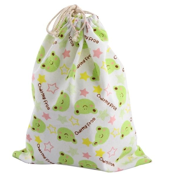 Drawstring Backpack Frog Pattern Bags