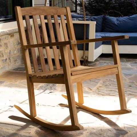 Valencia Teak Rocking Chair - Natural