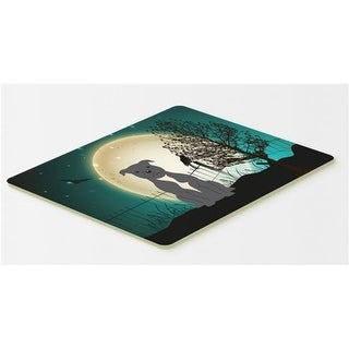 Carolines Treasures BB2236CMT Halloween Scary Staffordshire Bull Terrier Blue Kitchen or Bath Mat 20 x 30