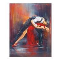 ''Tango Nuevo II'' by Pedro Alvarez Latino Art Print (19.75 x 15.75 in.)