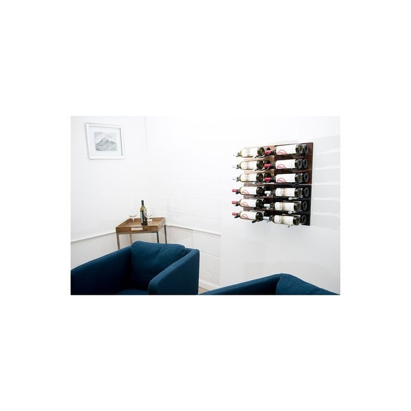 VintageView GNR-LABEL3 Grain and Rod 36 Bottle Capacity Wall Mounted Wine Rack Set - Wood / Aluminum