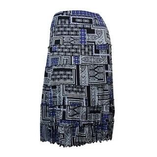 JM Collection Women's Ruffled Trim Mesh A-Line Skirt - XxL