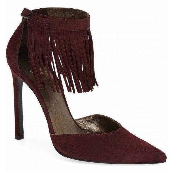 Stuart Weitzman NEW Purple Womens Shoes Size 9.5M Fringelica Pump