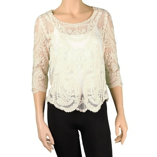 Ultraflirt Juniors 3/4 Sleeve Lace Top