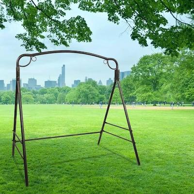 Outdoor Garden Iron Art Swing Frame Bronze