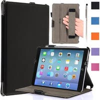 i-Blason-Apple New iPad Mini Retina Display Smart Cover Slim Folio Case-Black