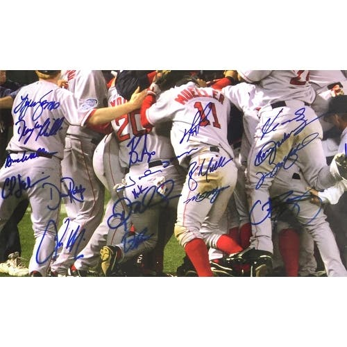 size 40 9f670 65182 Shop 2004 Boston Red Sox Team Signed Framed 20x24 Photo JSA ...