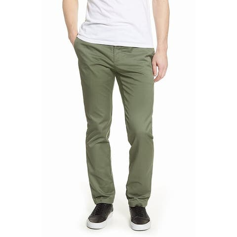 RVCA Mens Pants Olive Green Size Large L Drawstring Weekend Stretch