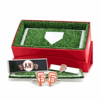 San Francisco Giants Cufflinks, Money Clip and Tie Bar Gift Set MLB - Orange