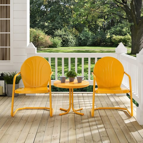 Howard Bay Tangerine 3-piece Metal Outdoor Conversation Set by Havenside Home