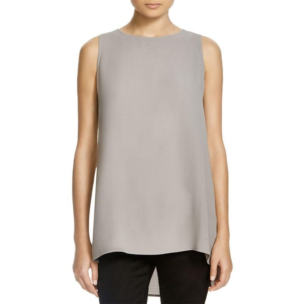 5365cfc33aae0d Shop Eileen Fisher Womens Tank Top Silk Boat Neck - XS - Free Shipping  Today - Overstock - 19315045