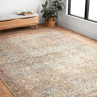 Link to Alexander Home Victoria Bohemian Sky Printed Vintage Area Rug Similar Items in Rugs
