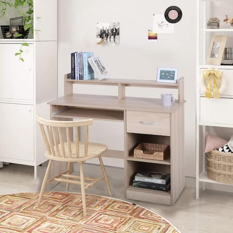 Sophia & William Home Office Computer Storage Writing Desk with Keyboard Tray