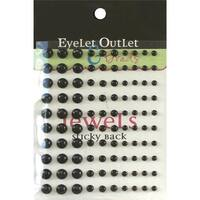 Eyelet Outlet  Bling Self-Adhesive Pearls Multi-Size 100-Pkg-Black