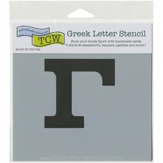 Crafters Workshop TCWGL-2122 4 x 3 in. Gamma Workshop Greek Letters