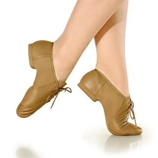 So Danca Caramel Leather Rubber Sole Dance Shoe Little Girl 9-13.5