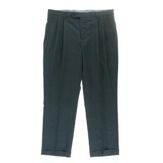 Nautica Mens Wool Glen Plaid Dress Pants - 34/30