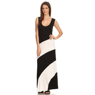 Women's Striped Sleeveless Maxi Summer Dress Casual Long Skirt Sundress