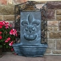 Sunnydaze French Lily Solar Outdoor Wall Fountain, Multiple Colors - Thumbnail 12