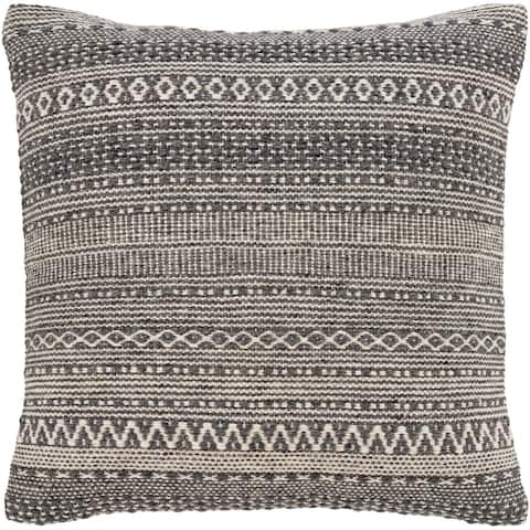 Loma Bohemian Striped 20-inch Poly or Feather Down Throw Pillow